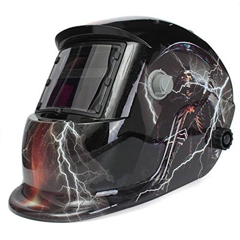 Lightning Skull Solar Powered Automatic Welding Mask