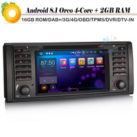 Quad Core Android 8.1 Autoradio DAB+ NAVI WiFi DVD DVR SD Car stereo Car GPS Navigation Player for BMW 5 Series E39 M5 X5 E53