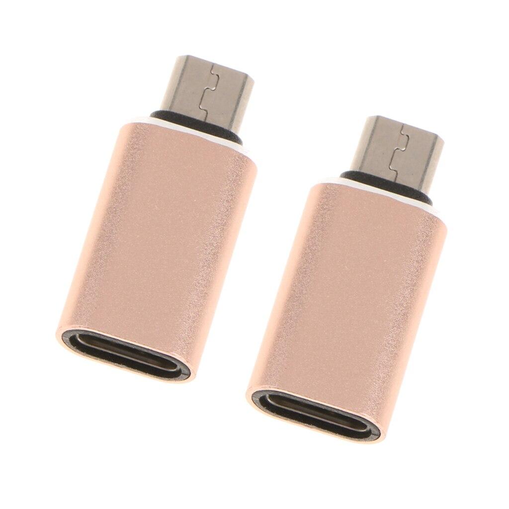 2x USB 3,1 Тип C USB-C Женский Micro USB 2,0 разъем адаптера