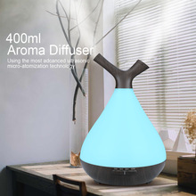 400ML Essential Oil Aromatherapy Diffuser Electric Wood Grain Air Humidifier Aroma Diffuser with Colorful Led Light Mist Maker цена в Москве и Питере
