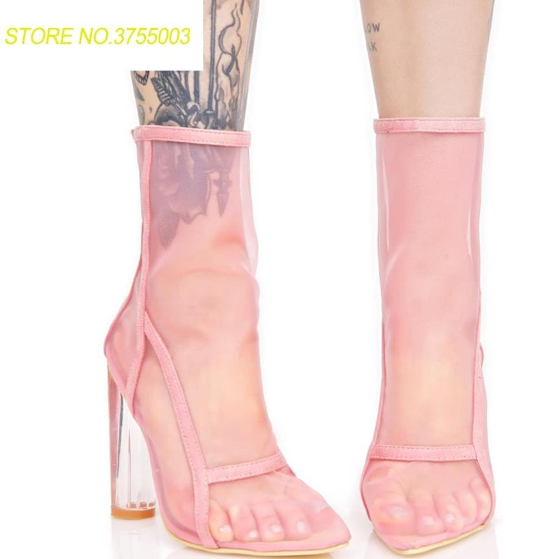 c09d5d6a orange 1 Cremallera black Tobillo pink Verano Malla Damas Botas Mujeres 2 2  Alto Pezuña Transpirable ...