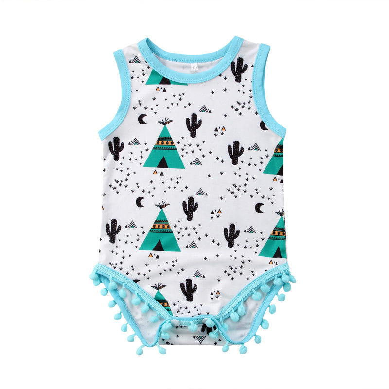 Low Price Sale Clearance At The End Of The Year Newborn Infant Baby Boy Girl Cactus Bodysuit Jumpsuit Outfits Summer