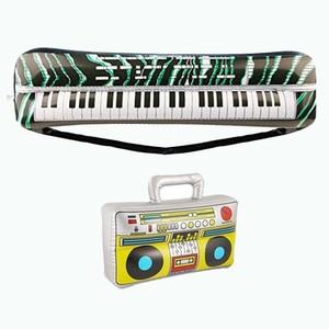 Image 5 - 14cps Gonfiabili Musica Chitarra Sassofono Microfono Strumenti Musicali Palloncini Giocattoli Accessori Decorativi per il Nuoto Piscina
