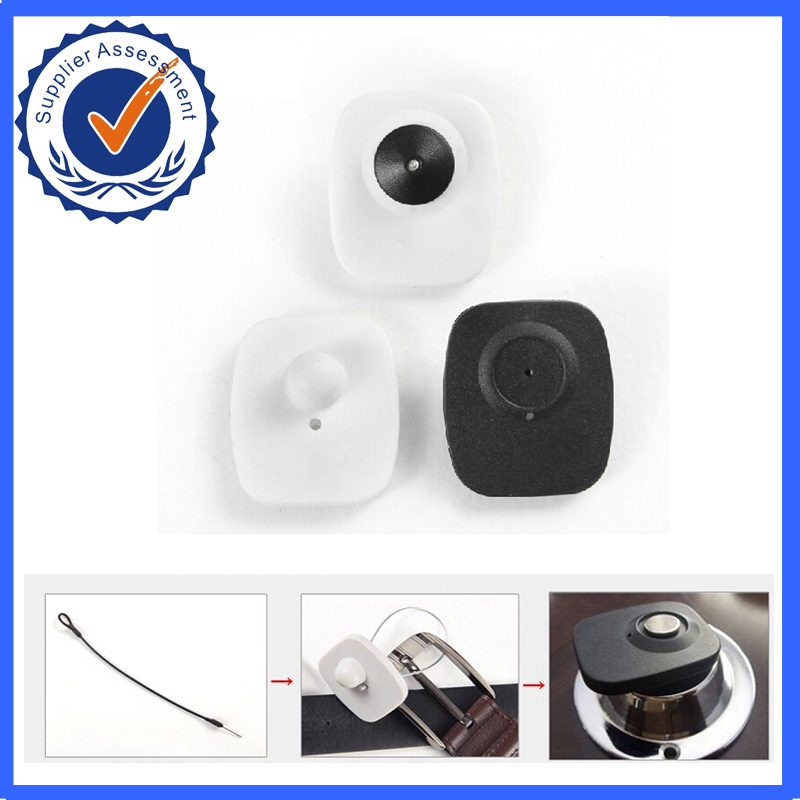 8.2MHz RF EAS Mini Square Hard Tags 1000pcs With Pins, For EAS Security System (Black By Default, Contact Us For Other Colours)