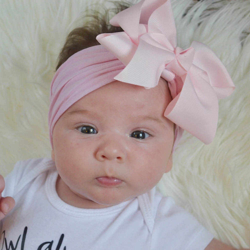 best value latest fashion new collection Diadema de bebé, diadema de lazo de nailon para bebé ...