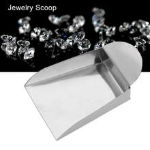 Jewelry Shovel for Pearls Gemstones Diamond Beads Scoop Steel Tools With Plate Handle jewelry tools for jeweler(China)