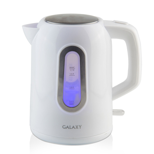 Чайник электрический Galaxy GL 0212 (Мощность 2200 Вт, объем 1.7 л, автоотключение при закипании и отсутствии воды, подсветка, вращение 360°)