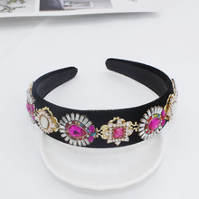 Gem Headbands Baroque Jewel Jewelled Women Rhinestone Hair Band Jewelled Diamond Flower Crowns Wedding Fashion Hair Accessories цена в Москве и Питере