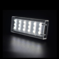 white light car 2x 18smd Car styling No Error LED White rear number plate light auto lamp For Lexus GX470 LX470 LX570 Toyota Land Cruiser 120 (2)