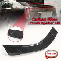New Car Real Carbon Fiber Rear Trunk Spoiler Lid Wing For Cadillac CTS Sedan 2008 2013 Rear Wing Spoiler Rear Trunk Roof Wing