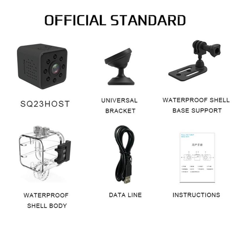 SQ23 Mini 1080P HD LED IR Night Vision WiFi Car DVR Camera Waterproof Sports DV