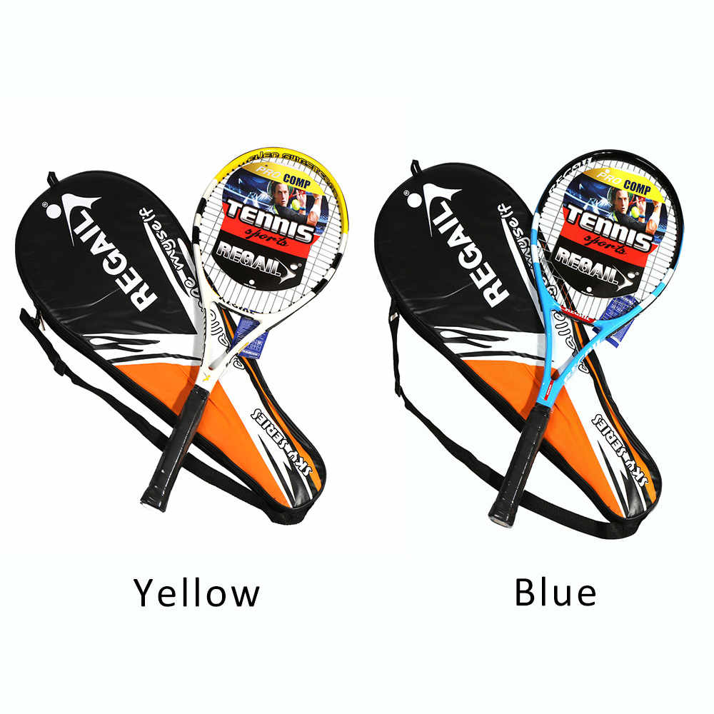 1 Pc Tennis Racket Carbon Fiber Aluminium Tennis Racket Racquets Sports Equipment with Bag Tennis Grip For Training Beginners