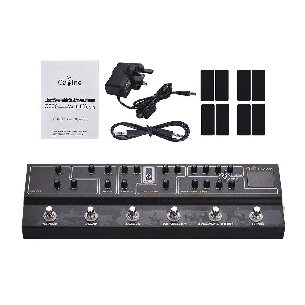 Caline C300 multi-effets pédale 9 V Tuner Amp modélisation guitare pédale effet accessoires guitare pièces de guitare avec câble Audio XLR
