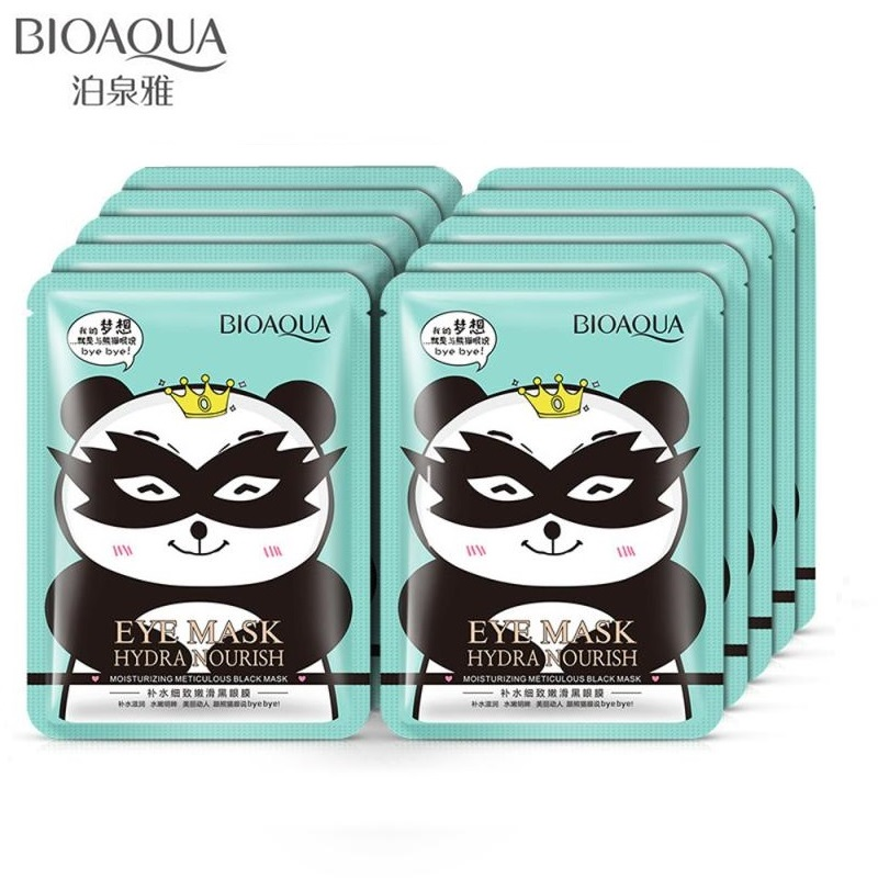BIOAQUA Black Eye Mask  Hydrating Meticulous Smooth  Fade Dark Circle Eye Bag Anti-Wrinkles Hydrating Moist Eyes Mask 30g*10pc