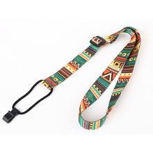 Muspor Hawaii Guitar Strap Ethnic Pattern Adjustable Nylon Clip On Ukulele Belt Sling With Hook Accessories