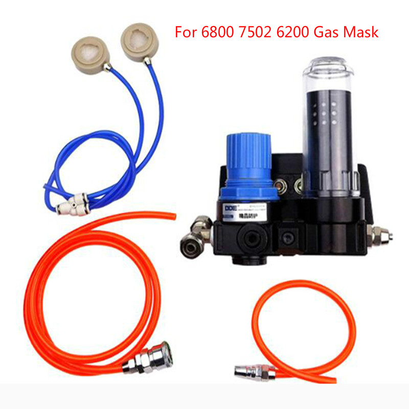 Safety Gas Mask Basic Supplied Air Fed Chemcial Respirator System For 6800 6200 7502 Work Duat Mask
