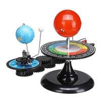 Solar System Sun Moon Earth Orbital Planetarium DIY Model Globe Educational Astronomy Science Kits for Kids Children