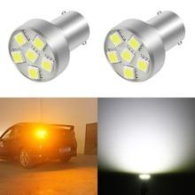 1 Piece 12V 1156 1157 6SMD P21W BA15S 5050 LED Bulb Car Auto Front Lights Brake Tail Turn Parking Lamp Bulbs