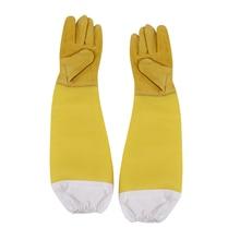 Outdoor tools 1Pair Beekeeping Protective Gloves Bee Keeping Supplies Beehive Working Tool with Vented Long Sleeves