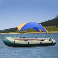 Inflatable Boat Kayak Accessories Fishing Sun Shade Rain Canopy Kayak Kit & Sailboat Awning Top Cover 2 4 Person Boat Shelter
