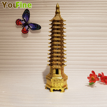 Chinese style bronze Wenchang tower sculpture Wenfeng Wen pen mascot indoor decoration