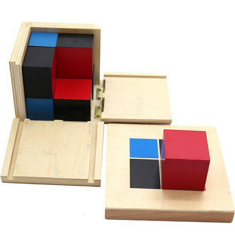 Montessori Wooden Table Toys Binomial Cube Math Materials Preschool Educational Learning Toys For Children Baby Teaching Aids