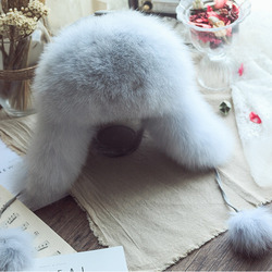 Warm Russia Real Fur Bomber Caps Fashion Snow Hats Trend Thin Skiing Hat Earmuffs Hat