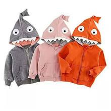 a3c2ef421afef Enfants bébé garçons filles à capuche manteau veste hauts Costume de requin  automne à manches longues enfants vêtements Outwear .