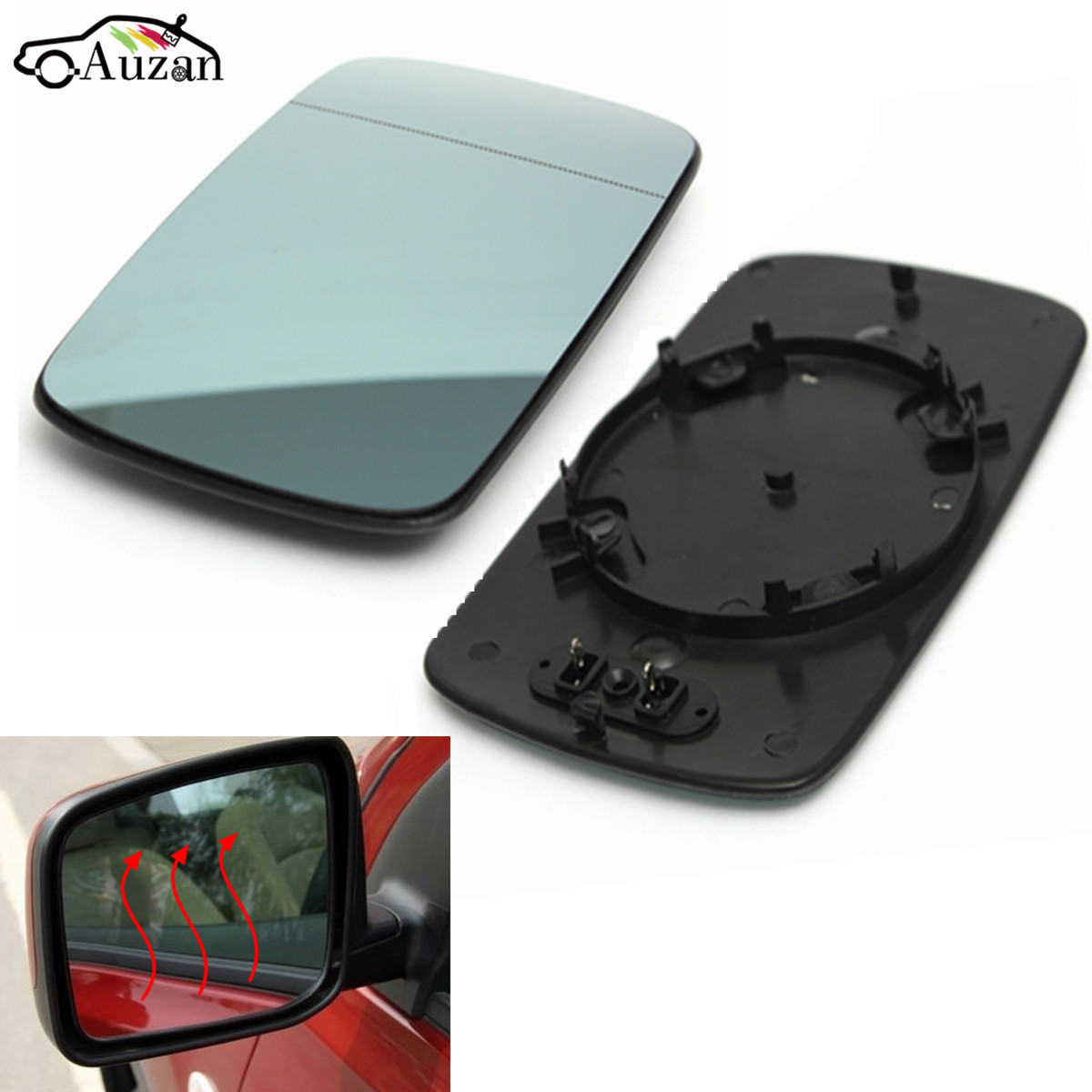 BMW F31 3 SERIES 2012 TOURING WING MIRROR GLASS BLIND SPOT BLUE HEATED LEFT