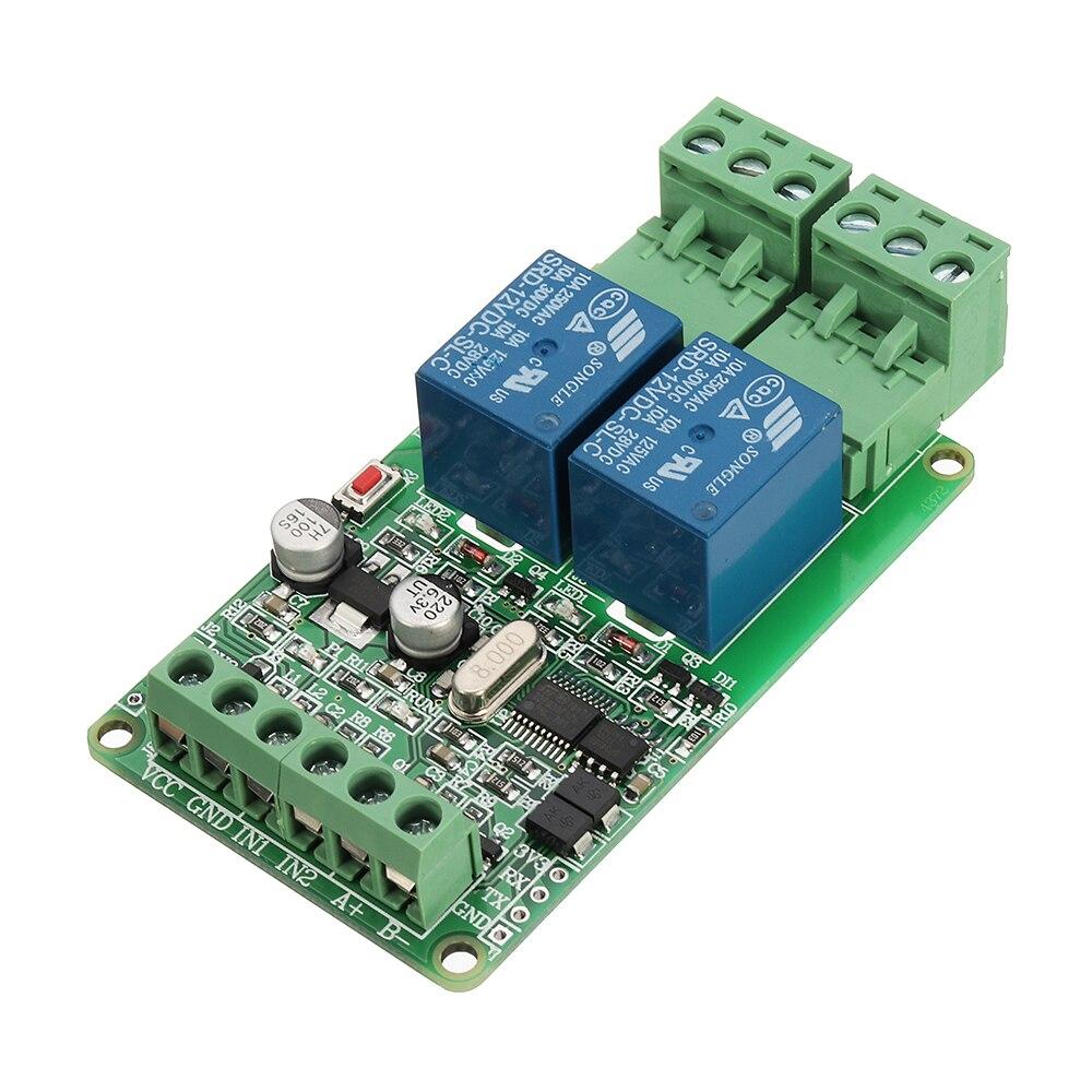 7 28 2 Forma De Módulo De Relé De Salida 2 Canales Entrada Interruptor Ttl Rs485 Comunicación De Interfaz Modbus Rtu In Circuitos Integrados From