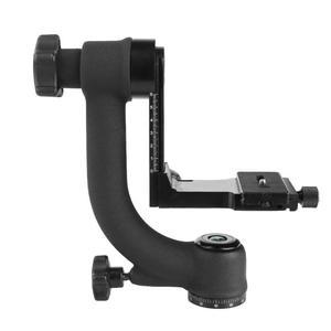 Image 5 - Profesjonalny 360 stopni panoramiczny głowica Gimbal Pan Tilt statyw aluminiowy głowica płyta szybkiego uwalniania dla DSLR teleobiektyw do aparatu