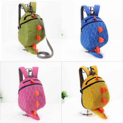 Прогулочный защитный накладной рюкзак для детей, детская мультяшная сумка с динозавром, детский рюкзак с защитой от потери