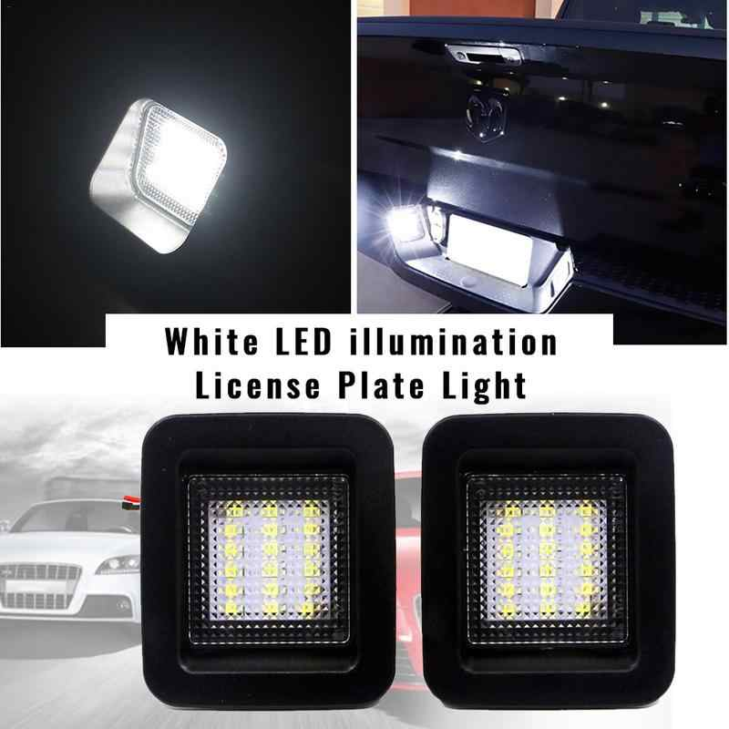 Car Accessories 2pcs 18SMD Assembly LED License Plate Light Kit For Ford F150 Raptor 2015-2018