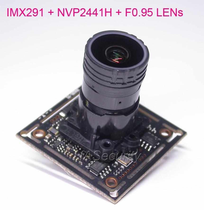 F0 95 aparture LENs AHD H 1080P CVBS 1 2 8 Sony STARVIS IMX291 CMOS NVP2441
