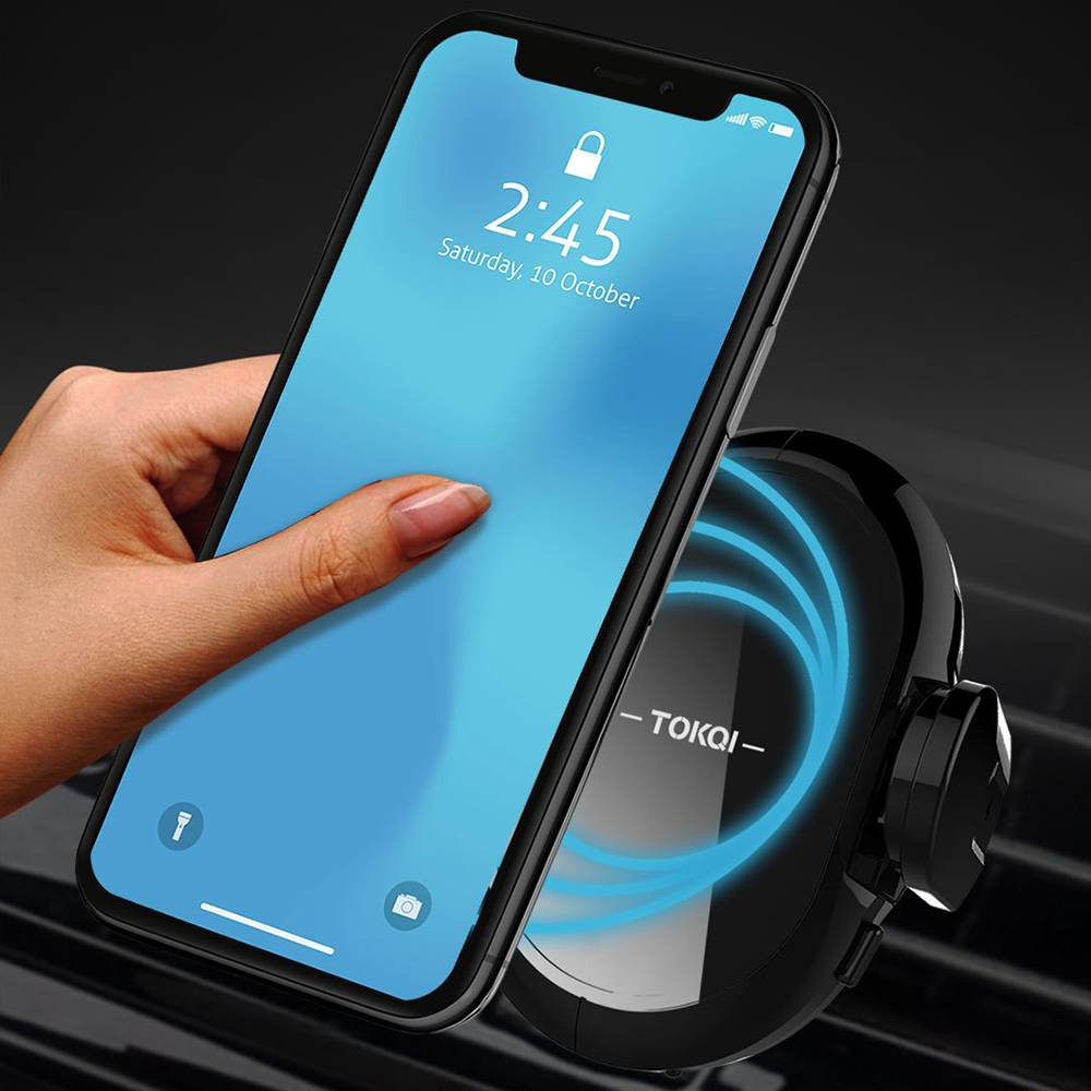 Car Charger  X2 10W 7.5W Smart Induction Vehicle Wireless Car Charger for iPhone X XR XS Note 9 Mi 8 Car Bracket Car Holder