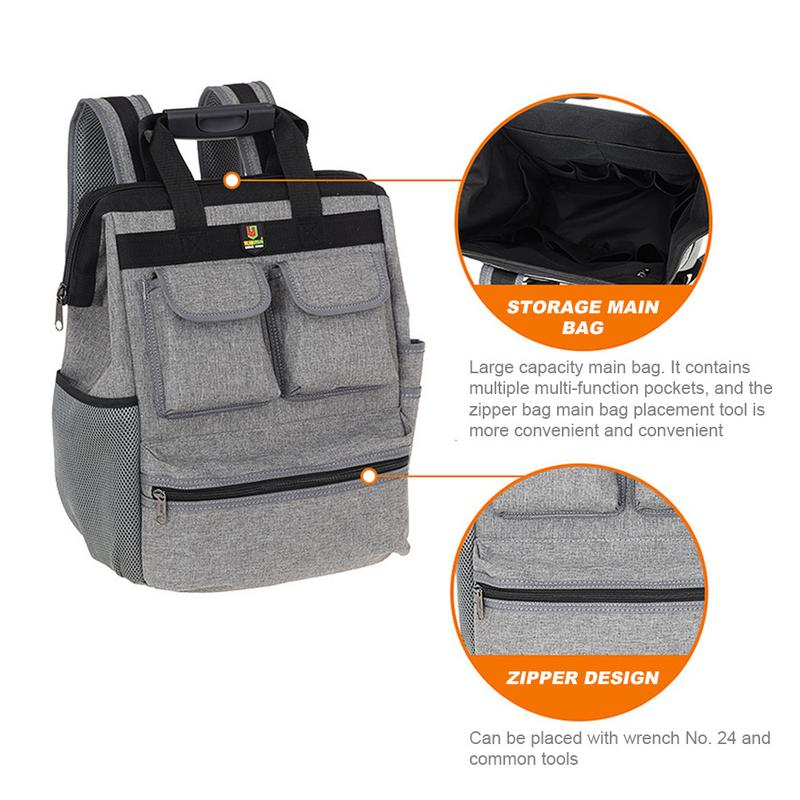 32*15*42cm Shoulder Kit Multi - Function Elevator Repair Backpack Hardware Kit Oxford Cloth Kit Tool Backpack Canvas Tool Bag