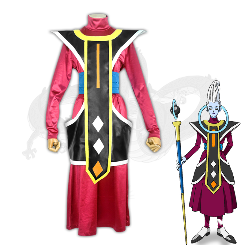 Milky Way Anime Dragon Ball Cosplay Costume Uisu Whis whole costume Full Set For Men Women Halloween Carnival Party Costume