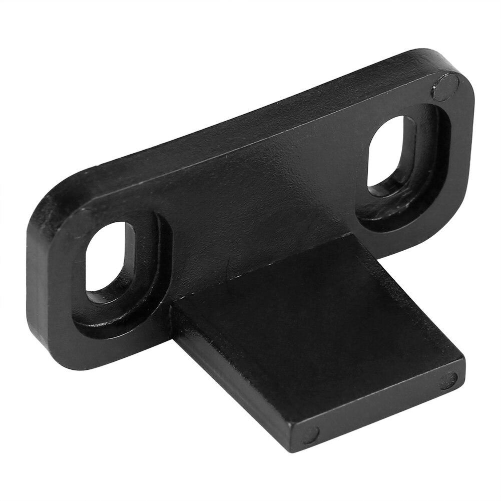 2 шт. Черные Регулируемые дверные зажимы для направляющей, пластиковая раздвижная Нижняя напольная направляющая, зажим для дверей сарая, оборудование с 4 винтами
