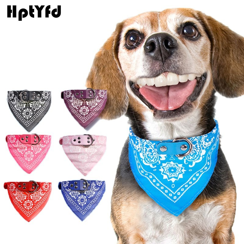 Fashion Dog Bandana Collar Katte Scarf Tie Læder Neckerchief for - Pet produkter - Foto 1