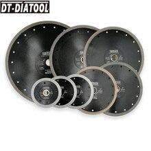 DT-DIATOOL 1pc Dia 4-12 Super-thin Diamond Cutting Disc X Mesh Turbo rim segment Saw Blades for Ceramic Tile Porcelain