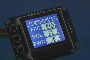 Image 3 - Receptor da estação de transmissão de rádio do display lcd de digitas da frequência do áudio estereofónico 76mhz 108 mhz do pll do transmissor de 5w fm