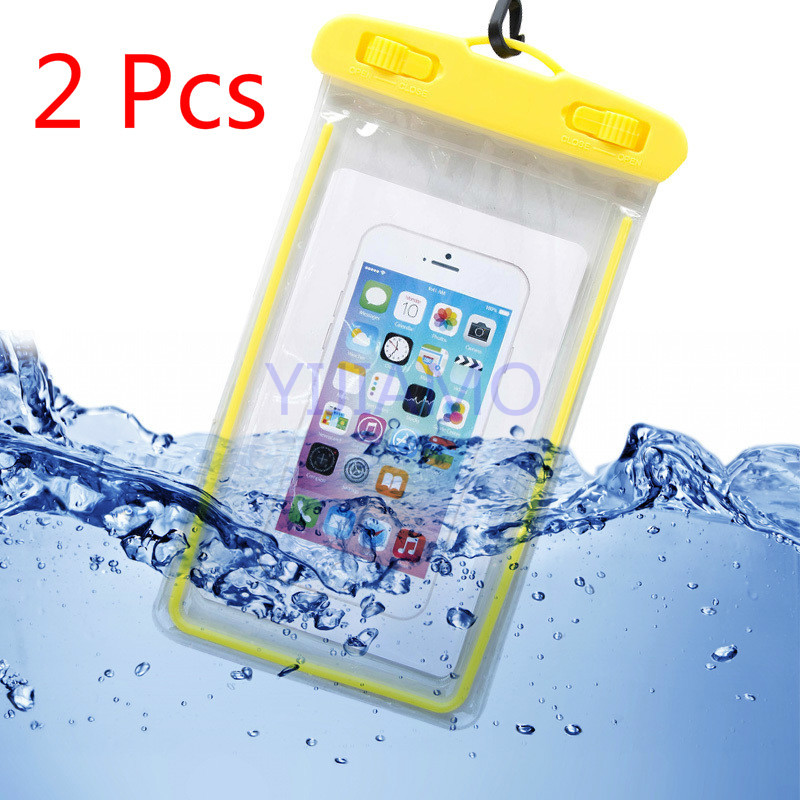 Waterproof Bag Case For IPhone Luminous Pvc Swimming Bags Underwater Phone Case For Xiaomi Seaside Vacation Universal All Models