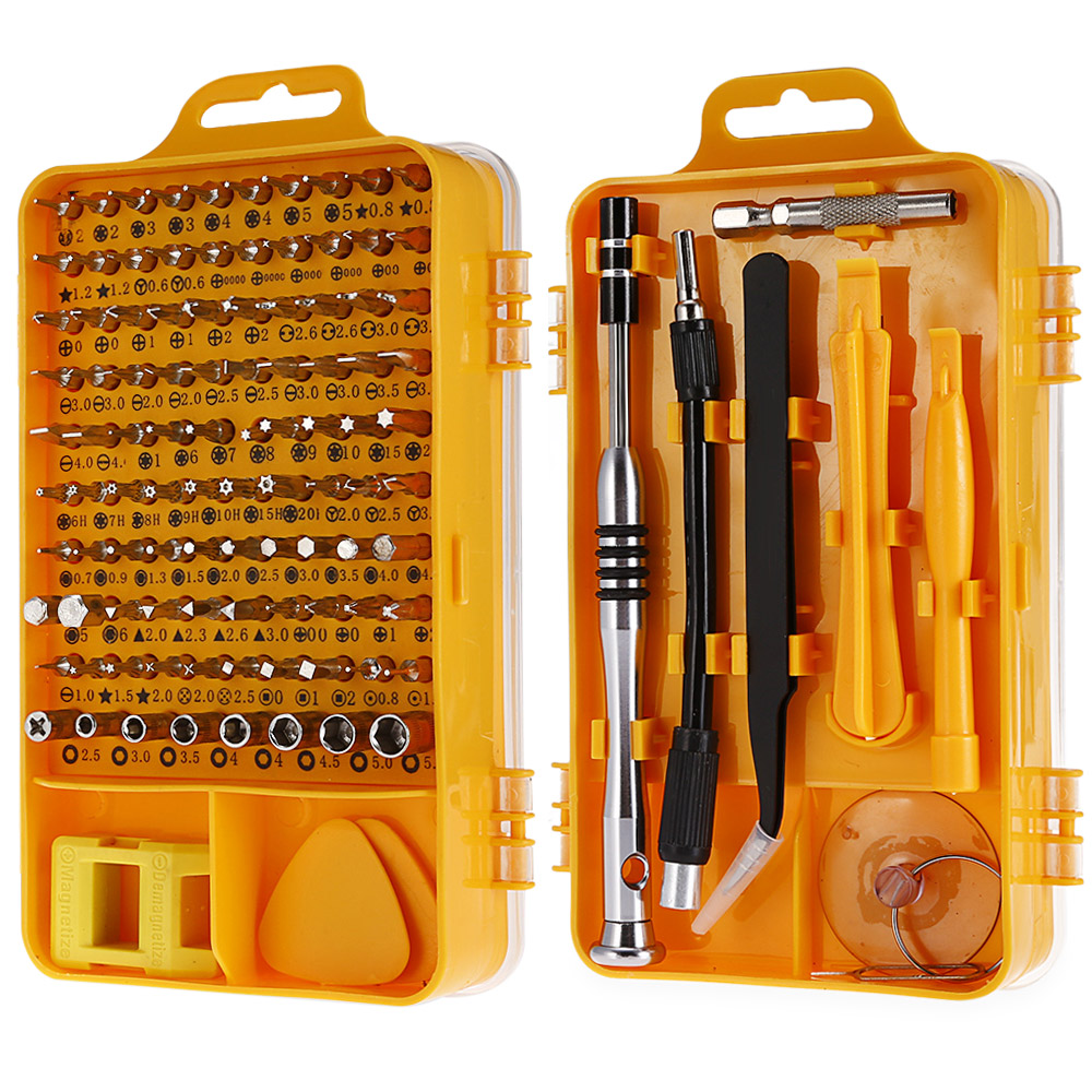 110-in-1 Precision Screwdriver Tool Set Repair Tools For Iphone Cellphone Tablet Clock Pc Worldwide Store Repairing Hand Tools
