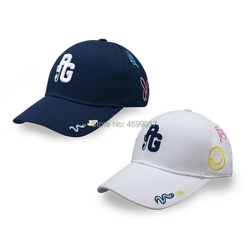 Empty-Top-Hat Golf-Hat Women Outdoor And Animal-Pattern Embroidered PG 2-Color
