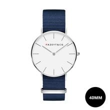Nazeyt 2018 new fashion male classic quartz watch student teenager 40mm dial Midnight blue nylon wristwatch Reloj para hombres alcázar sánchez nuevos hombres classic reprint
