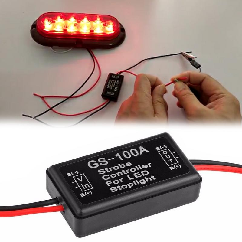 Car Intelligent Flasher Module For LED Brake Light Tail Stop Light12--24V Flash Strobe Controller