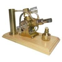 Модель двигателя Стирлинга в форме V с водяным охлаждением, строительные наборы с медной деревянной основой, развивающие игрушки для детей