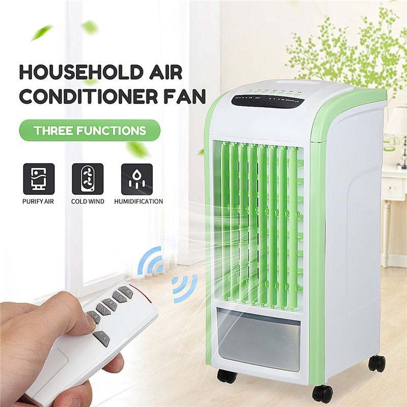 Home Mobile Air Conditioner Fan 3.5L Capacity Humidification Cooling Fan Evaporative Air Cooler Humidifier + Remote ControllerHome Mobile Air Conditioner Fan 3.5L Capacity Humidification Cooling Fan Evaporative Air Cooler Humidifier + Remote Controller