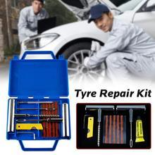 11pcs Car Van Motorcycle Bike Emergency Heavy Duty Tubeless Tire Puncture Professional Repair Kit Plug Set Tyre