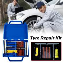 11pcs Auto Van Motorcycle Bike Emergency Heavy Duty Tubeless Bandpunctuur Professionele Reparatie Kit Plug Set Tyre Repair Kit(China)